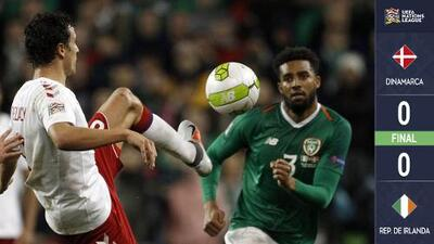 ¡Se despiden de la Liga B! Dinamarca asciende e Irlanda desciende con empate sin goles
