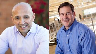 Doug Ducey lleva la delantera a su oponente el demócrata David García en la contienda por la gobernación de Arizona