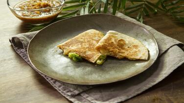 Quesadillas de brócoli y quinoa