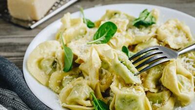Ravioles con espinacas y queso parmesano | Reto 28