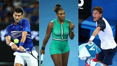 Djokovic y Serena avanzan en Australia, Carreño se despide con polémica