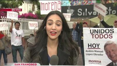 Simpatizantes de López Obrador festejan su triunfo en la Mission