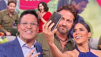 Francisca, Raúl y Karla sumaron a Gerard Butler en su álbum de fotos con estrellas de Hollywood