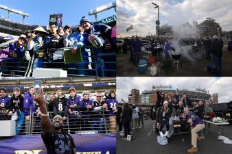 Los fanáticos de Ravens viven el juego de Comodines contra los Chargers