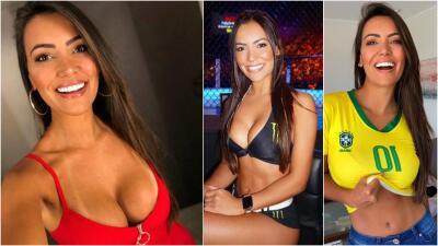 Chica de octágono, amante de los deportes y fanática de la selección de Brasil: ella es Luciana Andrade