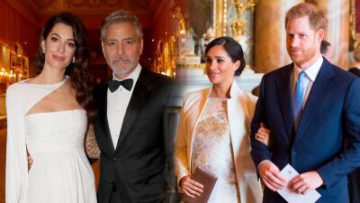 No pudieron compartir con sus amigos Meghan y Harry: George y Amal Clooney fueron a una cena del príncipe Carlos