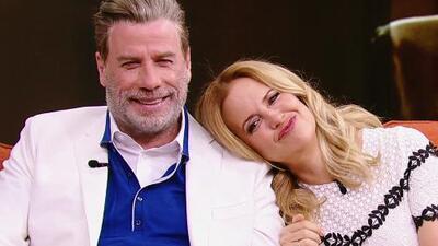 Kelly Preston hizo sonrojar a su esposo John Travolta al hablar de su vida marital y cómo la conquistó