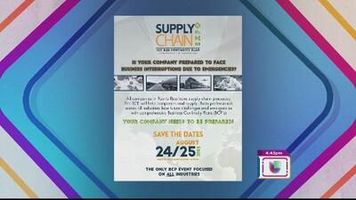 Supply Chain Expo busca ayudar a empresarios a crear sus propios planes de contingencia