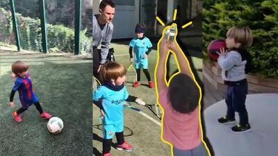 Los hijos de Shakira y Piqué enternecen Instagram con fútbol, pases y goles