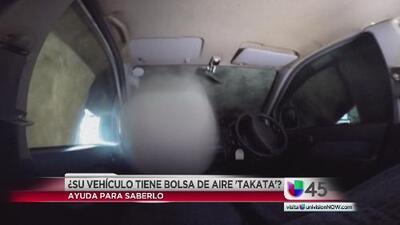 """¿Su vehículo tiene bolsas de aire marca """"Takata""""?"""