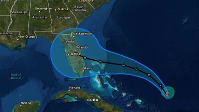 Dorian ya es un huracán categoría 2 y sigue acercándose a Florida