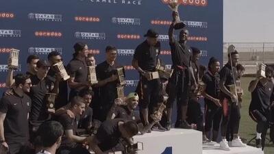 Los camellos 'Neymar y Thomas Tuchel' ganaron carrera en Catar