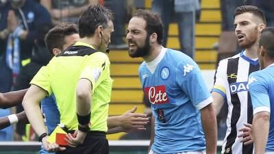 El Nápoles cae ante Udinese y se queda a seis puntos del líder Juventus