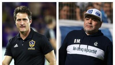 """Barros Schelotto: """"Maradona siempre ha estado al lado mío en cada momento, y yo a su lado"""""""