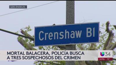 Policía busca a tres sospechosos en conexión a mortal balacera en el sur de California