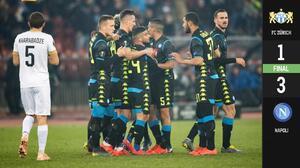 Con un pie en octavos: sin mucho esfuerzo, Napoli derrotó al FC Zürich a domicilio