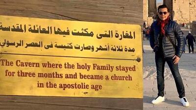 Raúl Brindis visitó el hogar de la Sagrada Familia en El Cairo, Egipto