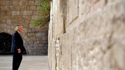¿Qué busca Trump con ser el primer presidente de EEUU que visita el Muro de los Lamentos?