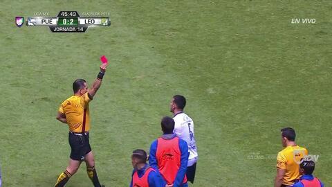 ¡Expulsión! El árbitro saca la roja directa a Daniel Arreola