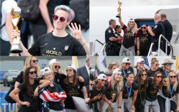 ¡Como auténticas heroínas fueron recibidas las campeonas de Estados Unidos!