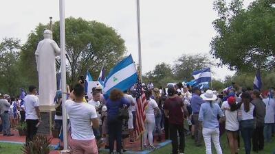 Nicaragüenses en el sur de Florida piden la libertad de los presos políticos del régimen de Ortega