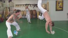 Ximena sudó la gota gorda junto con Carlos de la Mota haciendo capoeira