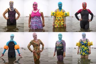Facekini, el traje de baño para el rostro