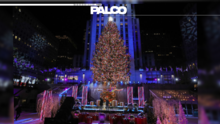 Se iluminó el árbol navideño en el Rockefeller Center