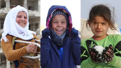 Las historias de los niños sobrevivientes de la guerra en Siria (FOTOS)