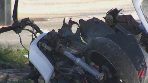En video: El impresionante momento en que un motociclista es arrollado por un automóvil en Miami