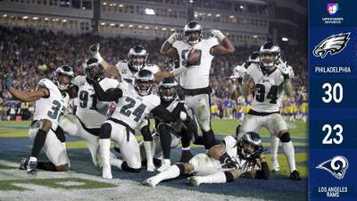 Philadelphia se aferra a la vida con sorpresiva victoria sobre los Rams