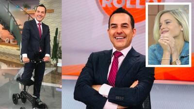 "Con ""patín, bota, zapatón"" (y novia), Carlos Calderón regresó a Despierta América"