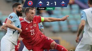 Rusia vence a Eslovenia con doblete de un imponente Dzyuba