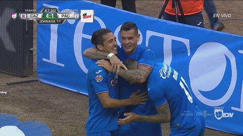 ¡Doblete de Caraglio! Cruz Azul golea 4-1 a Pachuca