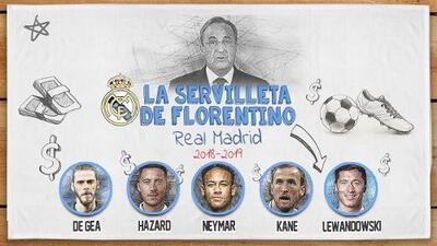 La 'Servilleta' de Florentino para el Real Madrid 2019 superaría los 1,000 millones de euros