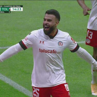 ¡Golazo de Toluca! Alexis Canelo define perfecto para el 1-1