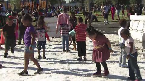 Niños de bajos recursos pudieron disfrutar de un evento navideño organizado por el Concejo de Los Ángeles
