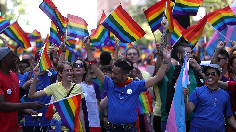 California Gay Pride Flag Postcard