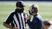 NFL endurecerá sanciones por mal uso de mascarillas de head coaches