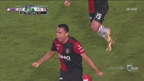 ¡Otra fecha a lo Atlas! Jairo Torres marcó el 1-0 a minutos del final ante Veracruz