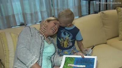 Leticia Calderón pasó tremendo susto con su hijo