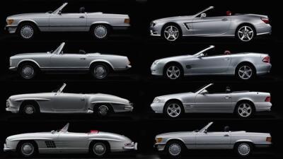 Historia gráfica del Mercedes-Benz SL el auto favorito de los ricos y famosos