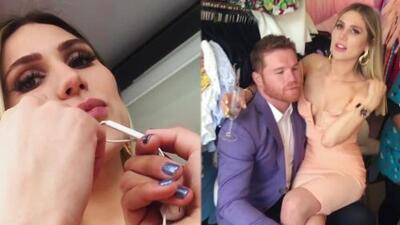 Sin querer mostrar su rostro, la novia de 'Canelo' Álvarez hizo románticas confesiones sobre su relación