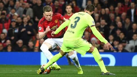 Piqué no se fía de la vuelta ante el United y recuerda lo que pasó con el PSG