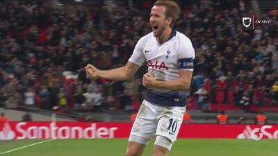Goles con los que Tottenham venció 2-1 al PSV del 'Chucky' Lozano