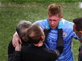 Kevin de Bruyne sufre doble fractura en la cara a dos semanas de iniciar la Eurocopa