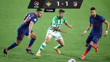 Atlético empata y ahora es líder de LaLiga por un solo punto