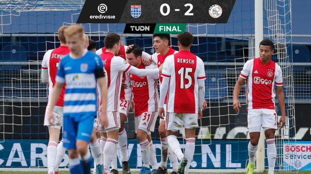 Edson Álvarez y Ajax aumentan ventaja como líderes en la Eredivisie
