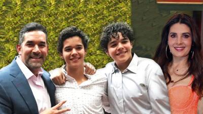 Los hijos de Eduardo Santamarina presumen la gran relación que tienen con Mayrín Villanueva