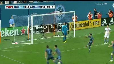 ¡Golazo de Jesús Medina! Con imparable riflazo deja congelado al portero, New York City 1-0 Montreal